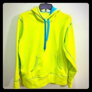 Tops - Neon Lime Green Athletic Hoodie